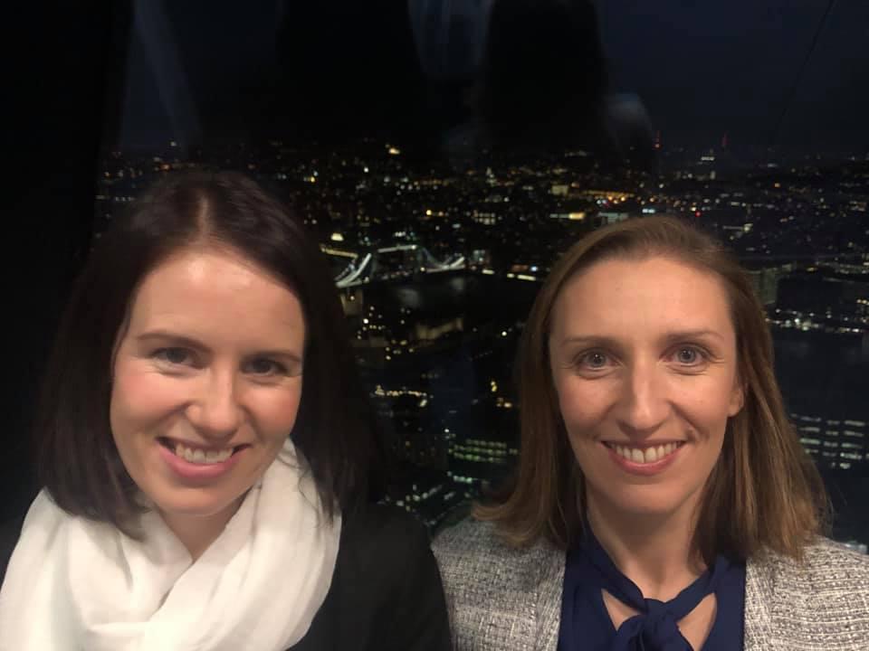 Supermum Gillian (Left) with Supermums Founder Heather Black at Salesforce Partner Innovation Dinner