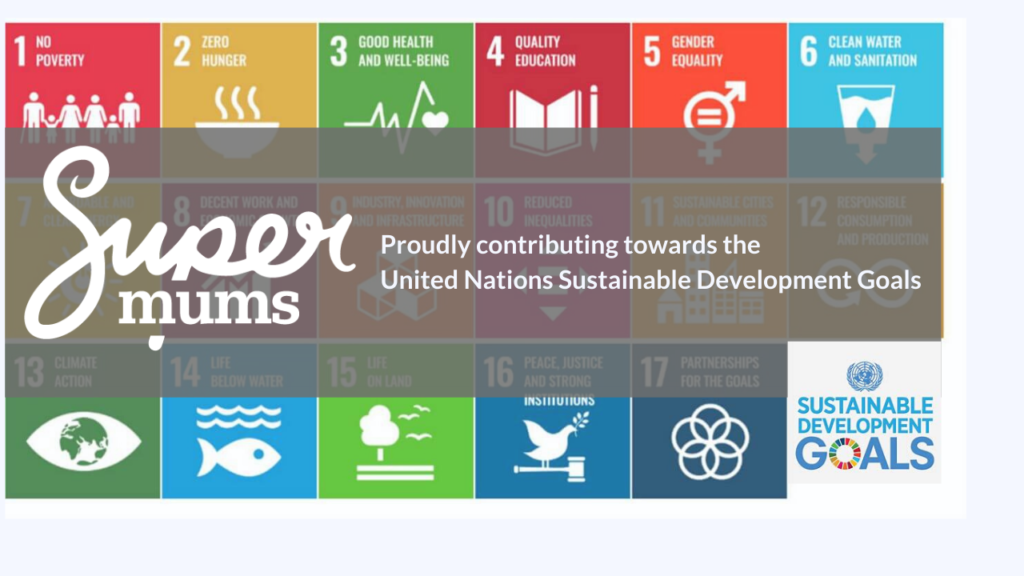 SUpermums logo across SDG banner